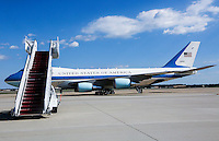 Air Force One with United States President Barack Obama aboard departs  Joint Base Andrews in Maryland, October 23, 2016. Obama is traveling to Las Vegas, Nevada, where he will be campaigning for Hillary Clinton. <br /> Credit: Aude Guerrucci / Pool via CNP /MediaPunch