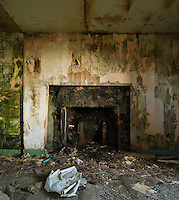Room of abandoned house, South Ronaldsay, Orkney, Scotland