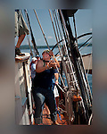 From aboard the gaff rigged ketch, Angelique which sails from Camden , Maine