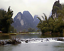 AA01208-02...CHINA - Tributary to the Li River near Yangshuo.