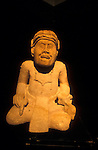 Sculpture of an ancient Maya scribe, Museo de Arqueologia Maya, Copan Ruinas, Honduras