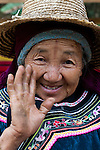 Portrait of an elder Hani woman, Yuanyang, China
