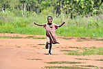 A girl in the village of Luena, in the Democratic Republic of the Congo, is inspired to attempt flight by the presence of a plane from the Wings of the Morning aviation ministry of The United Methodist Church.