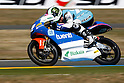 May 23, 2010 - Le Mans, France - Pol Espargaro powers his bike during the 125cc race of the French Grand Prix on May 23, 2010. (Photo Andrew Northcott/Nippon News).