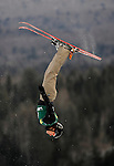 19 January 2008: Alla Tsuper from the Republic of Belarus takes a practice jump prior to the FIS World Cup Freestyle Ladies' Aerial Competition at the MacKenzie Ski Jump Complex in Lake Placid, New York, USA. ..Mandatory Photo Credit: Ed Wolfstein Photo
