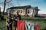Russellville, Arkansas, U.S.A, December, 1980. America severly marked by the recession. Goldie and S.G. Manley suffering from poverty.
