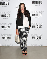 Victoria Pendleton arrives at the Unique show as part of London Fashion Week AW13, Tate Modern, London. 17/02/2013 Picture by: Henry Harris / Featureflash