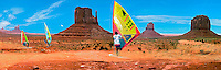 Monument Valley, Navajo Tribal Park, Colorado Plateau, Windsurfers, CGI, Panorama (extends into Arizona & Utah)