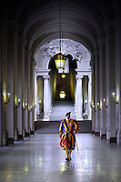 Pontifical Swiss Guard;Pope Francis  Polish President Andrzej Duda  during a private audience at the Vatican on November 9, 2015.