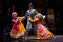 London, UK. 05.12.2012. CINDERELLA THE MIDNIGHT PRINCESS opens at the Rose Theatre, Kingston. Picture shows: Jenny Bede (Aloysia),  Jack Monaghan (Prince Sebastian), Laura Prior (Constanza).  Photo credit: Jane Hobson.