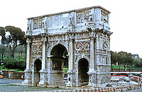 Italy: Rome--Arch of Constantine, A.D. 312. Betweeen Collosseum and Palatine Hill. Corinthian columns.