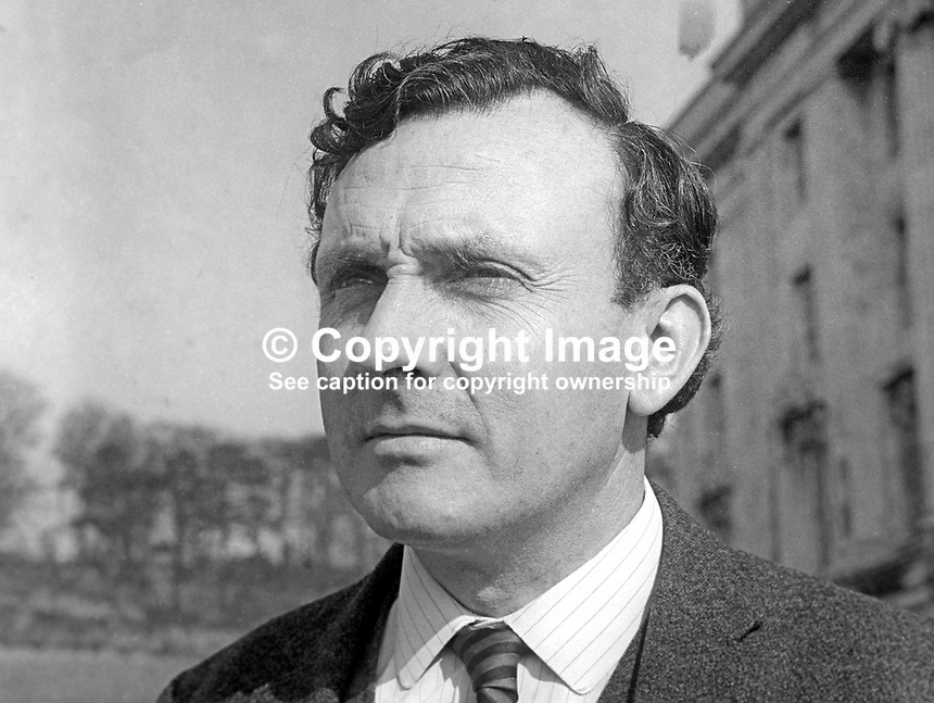 Tom Caldwell, MP, Ulster Unionist, N Ireland Parliament, Stormont, March 1969, 196903000119b<br />