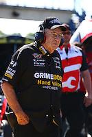Sep 29, 2013; Madison, IL, USA; NHRA funny car team owner Jim Dunn during the Midwest Nationals at Gateway Motorsports Park. Mandatory Credit: Mark J. Rebilas-