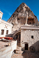 Goreme, Cappadocia, Nevsehir, Turkey, November 2011. Dutch Photographer Frits Meyst and his wife Jillian Macdonald restored an old rock house in the village of Goreme. Since Roman times people have been cutting graves and homes out of the Soft tufo 'Fairy Chimney' rocks of Cappadocia. Photo by Frits Meyst / MeystPhoto.com