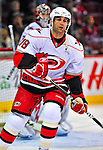 21 December 2008: Carolina Hurricanes' left wing forward Ryan Bayda warms up prior to a game against the Montreal Canadiens at the Bell Centre in Montreal, Quebec, Canada. The Hurricanes defeated the Canadiens 3-2 in overtime. ***** Editorial Sales Only ***** Mandatory Photo Credit: Ed Wolfstein Photo