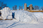 A collection of Barns that still can be seen while traveling the countryside in  the beautiful State of Wisconsin.<br /> Iowa County- White storage containers corner of Jacobson Road and County Road Y.