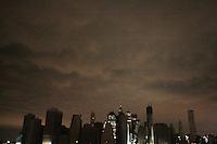 Hurricane Sandy Aftermath Blackout in Lower Manhattan