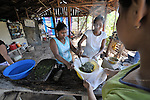 Women use natural ingredients to make soap in El Bonete, a small village in northwestern Nicaragua.