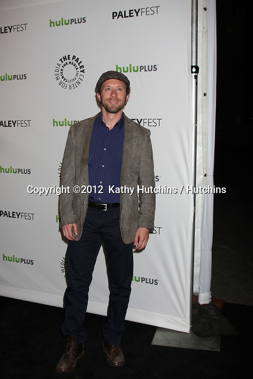 "LOS ANGELES - MAR 8:  T.J. Thyne arrives at the ""Bones"" Event at PaleyFest 2012 at the Saban Theater on March 8, 2012 in Los Angeles, CA"