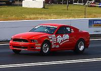 Jun 11, 2016; Englishtown, NJ, USA; NHRA factory stock driver Roy Hill during qualifying for the Summernationals at Old Bridge Township Raceway Park. Mandatory Credit: Mark J. Rebilas-USA TODAY Sports