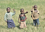 Children displaced by war in the eastern Congo share in a group activity designed to promote emotional wellbeing. They live in a displaced persons camp in the village of Sasha. A quarter of a million people have been newly displaced by fighting in the eastern Congo, where some 5.4 million have died since 1998 from war-related violence, hunger and disease. .