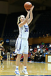 30 October 2012: Duke's Tricia Liston shoots a free throw. The Duke University Blue Devils played the Shaw University Lady Bears at Cameron Indoor Stadium in Durham, North Carolina in women's college basketball exhibition game. Duke won the game 138-32.