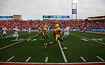 07 JAN 2012: Travis Beck (52) of North Dakota State University returns an interception against Sam Houston State during the Division I Men's FCS Football Championship held at Pizza Hut Park in Frisco, TX. North Dakota State beat Sam Houston State 17-6 for the national title. Tom Pennington/ NCAA Photos