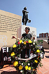 Mexican journalists attend the anniversary of the assassination of the journalist Manuel Buendia at the Francisco Zarco monument, May 30, 2012. Photo by Javier Rodriguez