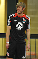 D.C. United midfielder Lance Rozeboom during the pre-season fitness training session at George Manson University before departing for Bradenton Florida to get ready for the 2013 season, Friday January 18, 2013.
