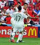 EM Fotos Fussball UEFA Europameisterschaft 2008: Tschechien - Portugal