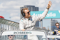 March 20, 2016: Nico Rosberg (DEU) #6 from the Mercedes AMG Petronas team at the drivers' parade prior to the 2016 Australian Formula One Grand Prix at Albert Park, Melbourne, Australia. Photo Sydney Low