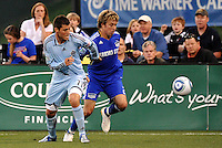 Colin Clark #11, Michael Harrington ...Kansas City Wizards defeated Colorado Rapids 1-0 at Community America Ballpark, Kansas City, Kansas.