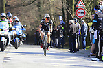 Dries De Bondt (BEL) Veranda's Willems-Crelan climbs La Houpe during the 60th edition of the Record Bank E3 Harelbeke 2017, Flanders, Belgium. 24th March 2017.<br /> Picture: Eoin Clarke | Cyclefile<br /> <br /> <br /> All photos usage must carry mandatory copyright credit (&copy; Cyclefile | Eoin Clarke)