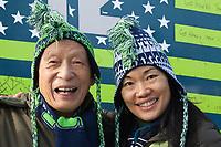 Seahawks Fan Rally, Renton Stock Photos