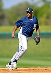 13 March 2007: Detroit Tigers infielder Neifi Perez takes fielding practice prior to facing the Los Angeles Dodgers in a spring training game at Holman Stadium in Vero Beach, Florida.<br /> <br /> Mandatory Photo Credit: Ed Wolfstein Photo