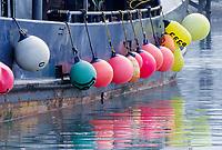 Fishing buoys, Valdez harbor, Valdez, Alaska