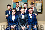 Front l-r Paddy O Donnell, Marcus Nolan, Stephan Gannon Back l-r Mark Ryle, Liam O'Brien, Christopher Kelly, Mike Hoare at the CBS The Green Students' Debs Ball at Ballyroe Heights Hotel on Thursday night
