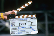 """Los Angeles, U.S.A, 1989. The filming of the movie """"Why Me?"""" with Christopher Lambert."""