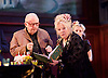 Evening at the Talk House <br /> by Wallace Shawn <br /> at the Dorfman Theatre, National Theatre, London, Great Britain <br /> 23rd November 2015 <br /> Press photocall <br /> <br /> directed by ian Rickson <br /> set designed by The Quay Brothers <br /> <br /> Wallace Shawn as Dick <br /> Anna Calder-Marshall as Nellie <br /> <br /> Photograph by Elliott Franks <br /> Image licensed to Elliott Franks Photography Services