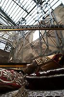 L'Aquila  20 Novembre 2010.Sos L'Aquila chiama Italia.La città  del L'Aquila  dopo 18 mesi dal terremoto..La Basilica di Collemaggiore,  Le spoglie di Celestino V   .Sos L'Aquila called  Italy.The city of L'Aquila 18 months after the earthquake