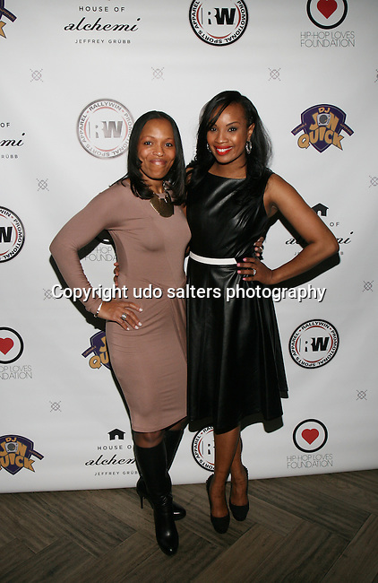 Dionne Ledford and Honoree Dana Whitfield at DJ Jon Quick's 5th Annual Beauty and the Beat: Heroines of Excellence Awards Honoring AMBRE ANDERSON, DR. MEENA SINGH,<br /> JESENIA COLLAZO, SHANELLE GABRIEL, <br /> KRYSTAL GARNER, RICHELLE CAREY,<br /> DANA WHITFIELD, SHAWN OUTLER,<br /> TAMEKIA FLOWERS Held at Suite 36, NY