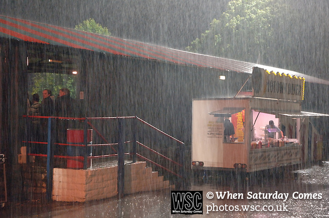 Aldershot Town 0 Torquay United 3, 15/08/2007. Recreation Ground, Football Conference.Torquay's first game in the Blue Square Premier. A 330 mile round trip to Aldershot Town's Recreation Ground. Rain lashes down on the Recreation Ground during the second half.