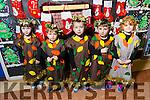 CHRISTMAS PLAY:Mrs. O'Donoghue's Junior Infants Shauna Quigley, Callum Leen, Billy McGrath Holland, Jamie O'Regan,   Aimee Farrell  at Scoil Eoin, Balloonagh enjoying their Christmas play on Tuesday