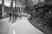 early breakaway group up the first catagorised climb of the day; the C&ocirc;te de La Roche en Ardenne<br /> <br /> 103rd Li&egrave;ge-Bastogne-Li&egrave;ge 2017 (1.UWT)<br /> One Day Race: Li&egrave;ge &rsaquo; Ans (258km)
