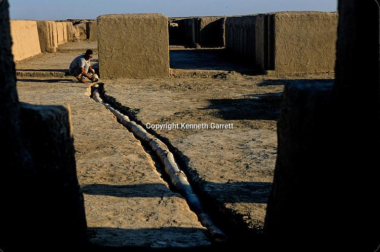 Oxus Civilization; Turkmenistan; Gonor Depe site; Victor Sarianidi; Archaeology; BMAC complex, sewer, drain