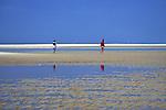 Cape Cod Beach & People Walking