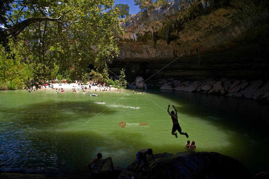 Hamilton Pool Nature Preserve - Natural Waterfall Cave Pool Photo ...