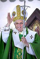 Assisi Benedict XVI during visit  city of Saint Francisco, Italy, June 17, 2007