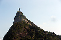 A General View of the Cristo Redentor statue that looks out over Rio de Janeiro