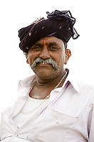Lakhmanbhai Jograna, leader of Vakhatbar village, near Sayla, Gujarat.